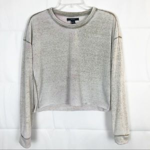 Forever 21 | Long Sleeve Cut Crew Neck Sweater